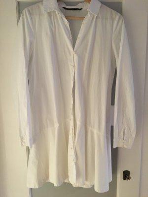 Weißes Hemdblusenkleid / Hemdbluse von Zara