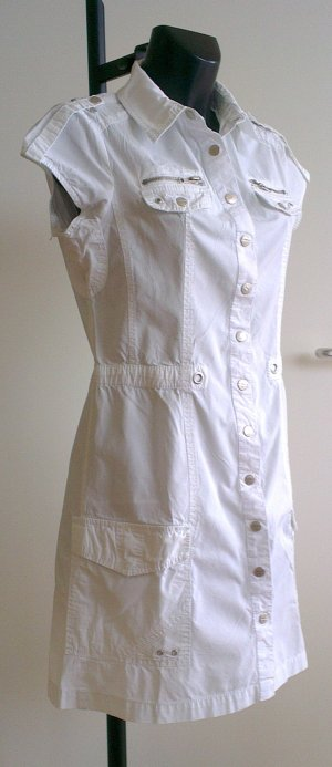 Weißes Hemdblusenkleid von Street One Gr.38