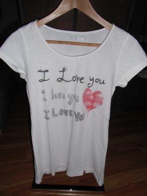 "weißes ""I Love U"" shirt"
