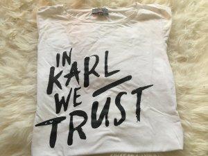 "Weißes ""In Karl we trust"" T-Shirt"