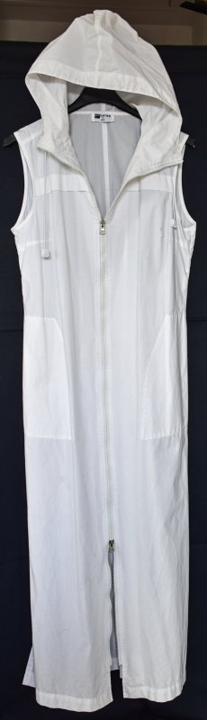 Hooded Dress white cotton