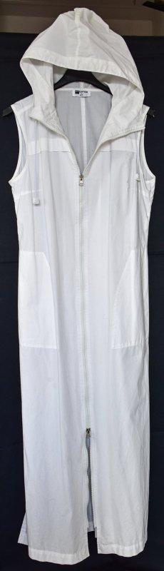 Robe à capuche blanc coton