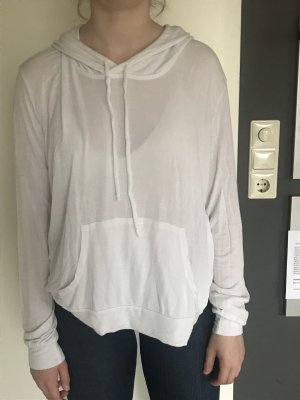 Brandy & Melville Hooded Shirt white