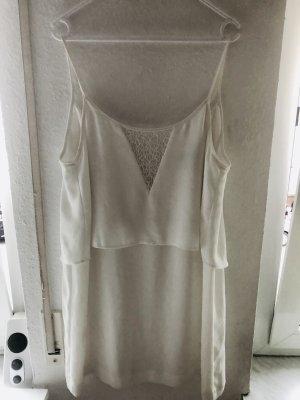 Mango Kanten jurk wit