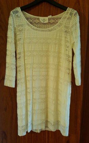 weißes Kleid aus Spitze Gr. 44