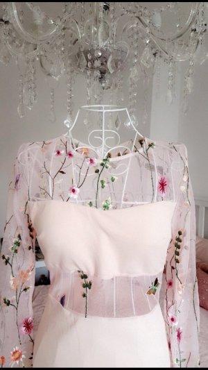 weißes Kleid blumenmuster transparent