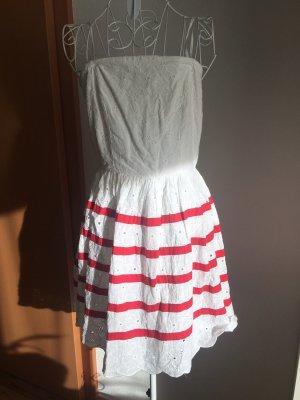 Naf naf Pinafore dress white-red