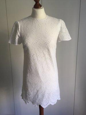 Zara Robe blanc coton