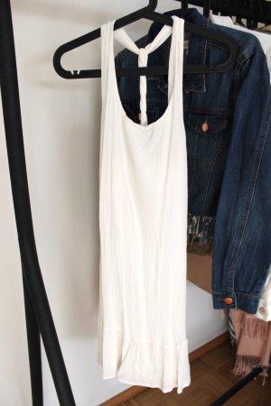Weißes Kleid mit Neckholder