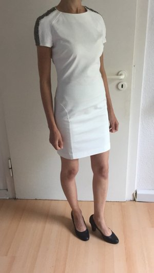 Weißes Kleid mit Pailletten, ZARA, Größe S/M