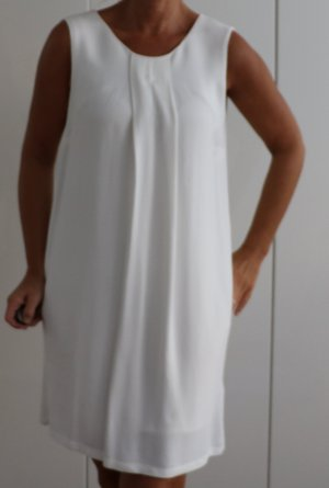 Weißes Kleid mit Schleife, Massimo Dutti