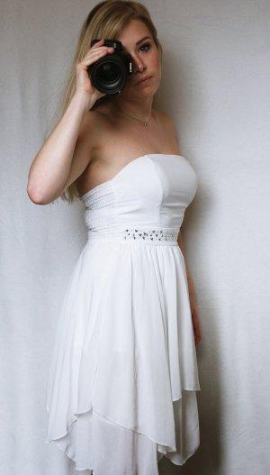 Weißes Kleid mit Verzierung, Tally Weijl, Größe 36, sehr guter Zustand