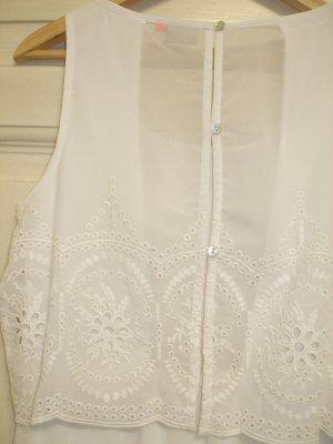 weißes Kleid, ONLY, besonderer Rücken, Spitze