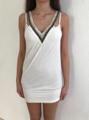 Weißes Kleid von Tally Weijl mit Glitzer