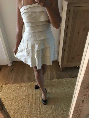 Weißes Kleid von Vila mit Volant Lagenlook 36