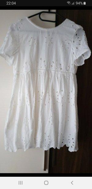 Zara Robe courte blanc