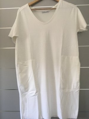 Zara Vestido de tela de sudadera blanco