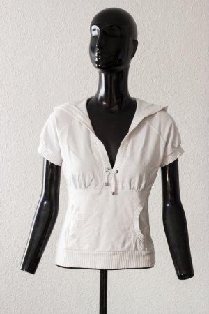 weißes kurzärmliges Oberteil von H&M Größe S