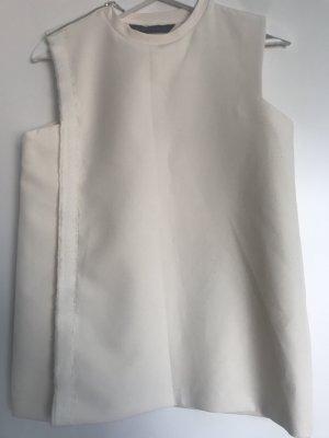 Zara Top largo blanco-blanco puro
