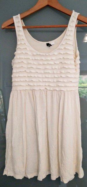 Weißes kurzes H&M-Kleid