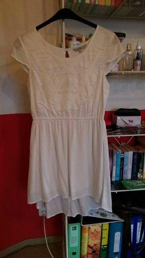 weißes, kurzes Kleidchen mit leichtem Vokuhila, Größe L