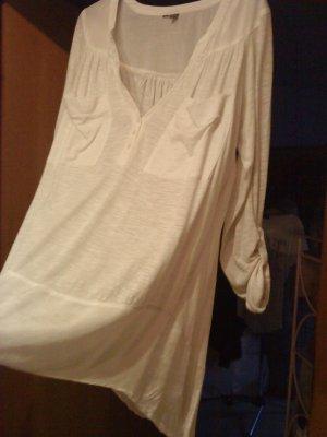 weißes längeres  Blusenshirt Größe 42/44