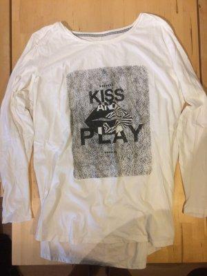 weißes langärmliges Shirt Größe 48 / XXXL