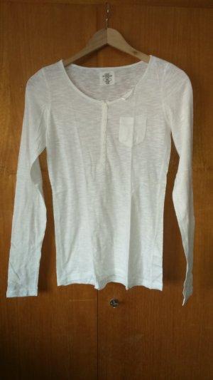 weißes langarm Shirt