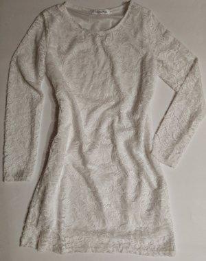 Weisses Langarm Spitzen Kleid *IBIZA Style*