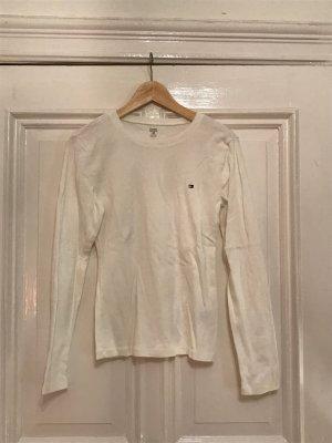 weißes Langarmshirt von Tommy Hilfiger