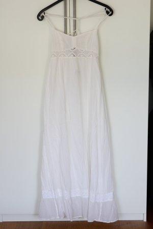 Weißes langes Kleid, Gr. 38, H&M