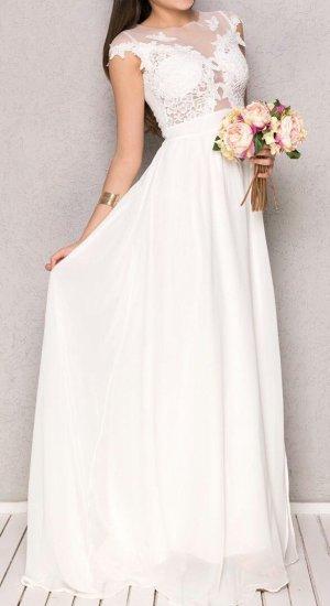 weißes langes Kleid neu mit Etikett