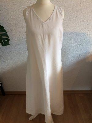 Weißes, langes Leinenkleid | Größe 40 | Schmal geschnitten