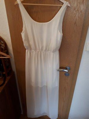 Weißes langes Sommerkleid
