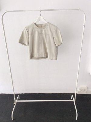 Weißes Ledershirt von Snob Gr.38 #thingswelove #fashion
