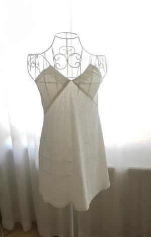 Weißes, leicht glitzerndes Top/Minikleid