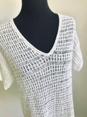Esprit Crochet Cardigan white