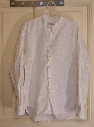 weißes Leinenhemd von Hessnatur