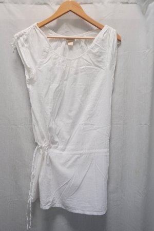 weißes Leinenkleid H&M, Tunikakleidchen, Sommer