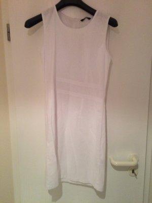 Weißes Leinenkleid knielang