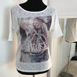 Weißes Longshirt mit Print Aufdruck