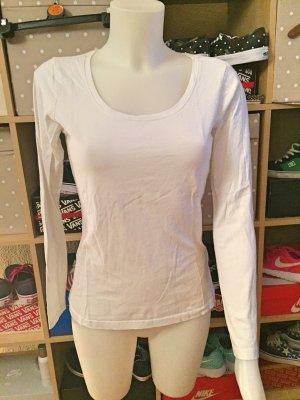weißes Longsleeve Shirt M