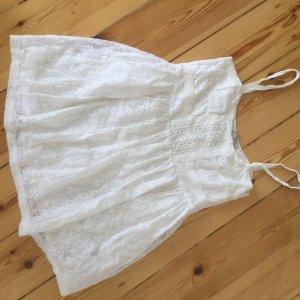 Weisses Longtop von Zara im A-Linienschnitt