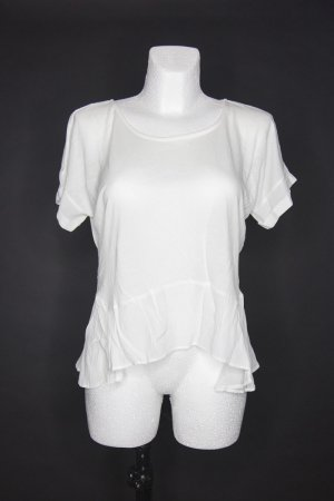 Weißes luftiges Shirt von Mango Gr. M