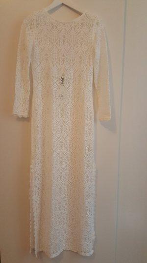 Weißes Maxi Strandkleid aus Spitze