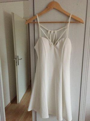 weißes Mini-Kleid