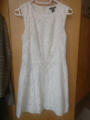 Weißes Minikleid, Spitzenkleid, Sommer, Gr. 36