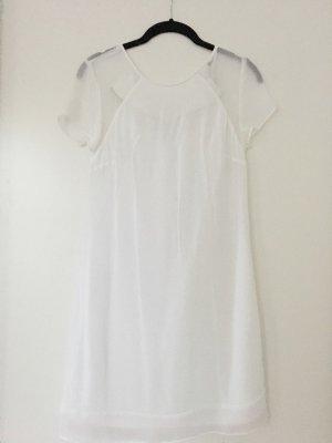 Zara Robe à manches courtes blanc-blanc cassé