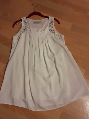Midi Dress white-silver-colored