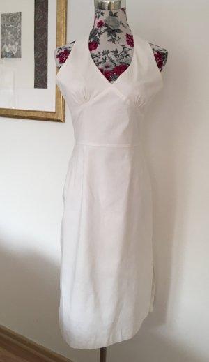 Weißes Neckholder-Kleid